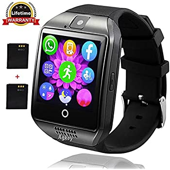 Agkey Smart Watch Touch Screen Smartwatch Wristwatch Unlocked Watch Cell Phone with Camera Smart Watches for Android Samsung S9 S8 S7 S6 Note 8 5 J7 ...