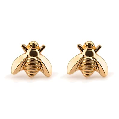 8ae909689 Amazon.com: palettei Cute Gold Silver Insect Bee Earrings Studs Tiny Bumble  Bee Stud Earring (gold): Jewelry