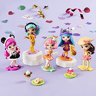 Party Popteenies – Party Pack – 6 Surprise Popper Bundle with Confetti, Collectible Mini Dolls and Accessories, for Ages 4 and Up (Styles Vary): Toys & Games