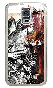 Beasts Art Clear Hard Case Cover Skin For Samsung Galaxy S5 I9600