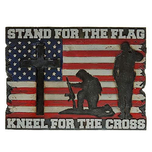 - Pine Ridge Stand for The Flag Kneel for The Cross Wall Plaque