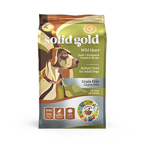 Solid Gold Grain-Free Dry Dog Food; Buck Wild (Venison), Sun Dancer (Chicken), Sunday Sunrise (Lamb) & Wild Heart (Quail)