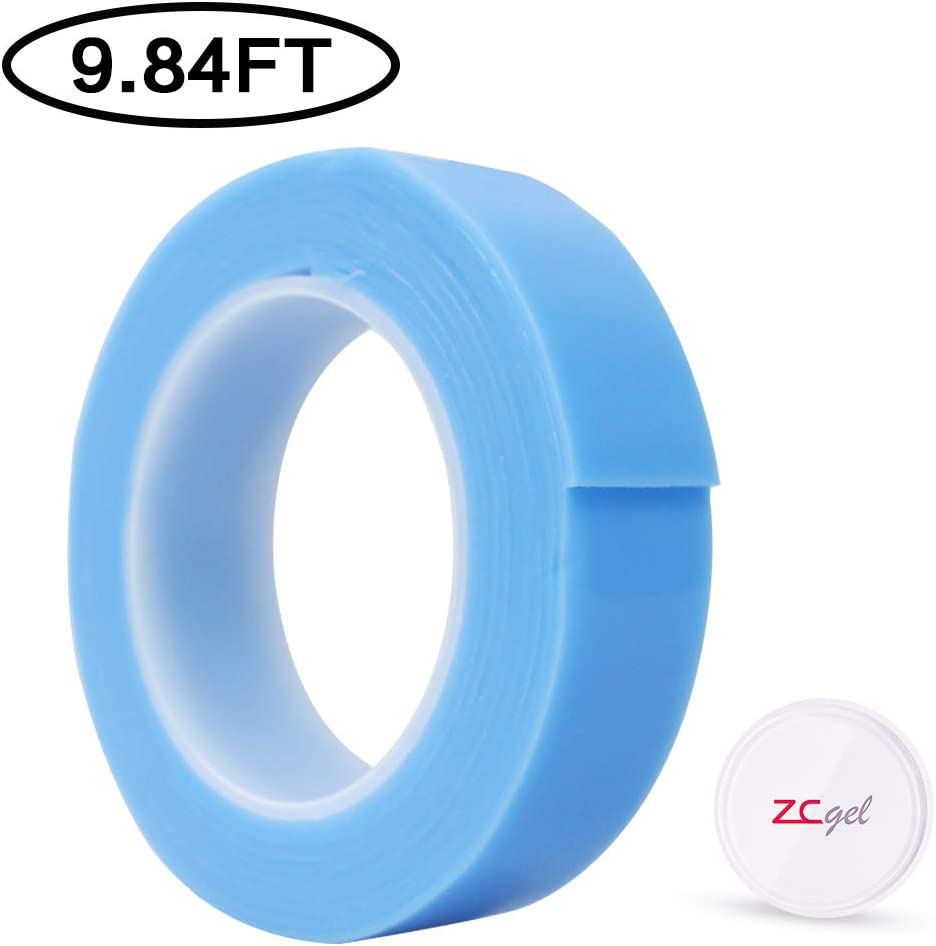 Nano Multifunctional Movable Washable Tape Double-Sided Gel Adhesive Tape for Paste Photos and Posters etc. ZC GEL Reusable Traceless Grip Tape Green, 9.84FT