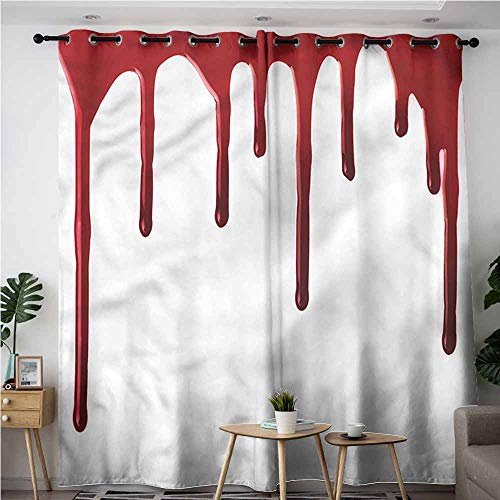 XXANS Grommet Window Curtains,Horror,Halloween Zombie Crime,Great for Living Rooms & Bedrooms,W72x84L -