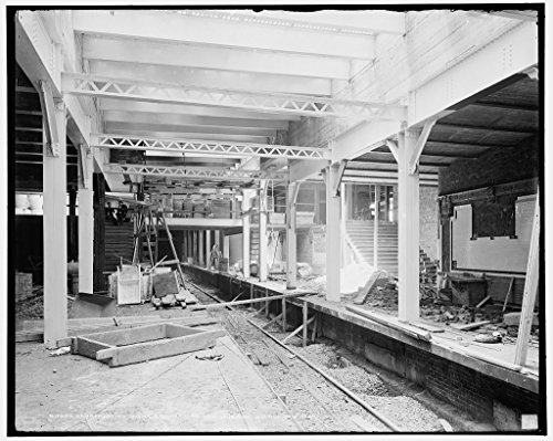 Vintography 8 x 10 Ready to Frame Pro Photo of Construction Work Brooklyn Bridge Subway Station New York 1904 Detriot Publishing 16a