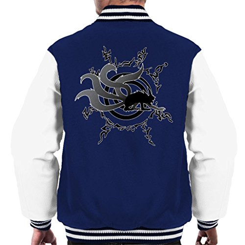 Varsity Nine Spiral Silhouette Men's Kurama Navy white Tails Jacket Naruto RY5twaqx