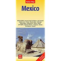 Nelles Map Landkarte Mexico: 1 : 2,500,000 | reiß- und wasserfest; waterproof and tear-resistant; indéchirable et imperméable; irrompible & impermeable