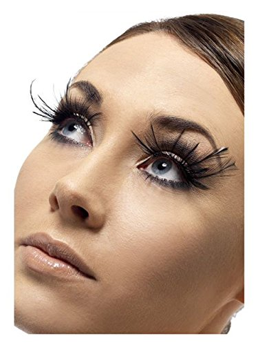8c98e439828 Image Unavailable. Image not available for. Color: Smiffy's Feather Plume  Deluxe Black Eyelashes