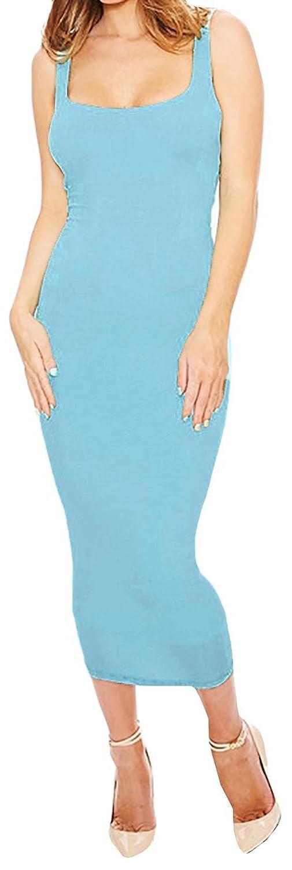Voguegirl Women's Summer Sleeveless Stretch Bodycon Bandage Party Dress
