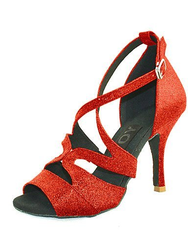 Silver Red Black Blue Customized Heel Latin Salsa Customizable Black Women's Dance Gold Leatherette ShangYi Shoes 67fUqP