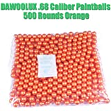 DAWOOLUX .68 Caliber Paintballs 500 1000 2000 Rounds Orange and Golden Color