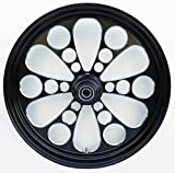 Ultima¨ Black Kool Kat¨ Aluminum Front Wheel, 16''x 3.5'', Single Disc, 2000 & Later Sealed Ball Bearings and 1'' Axle, 37-650