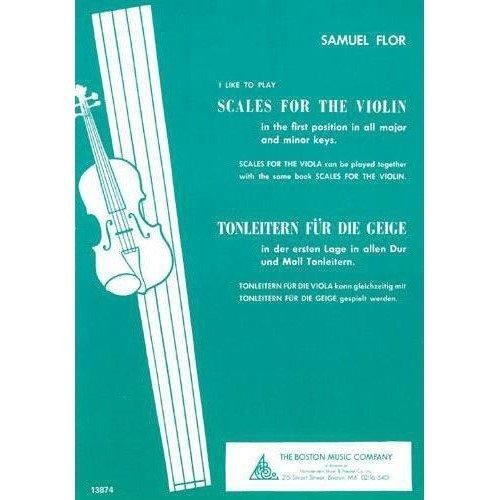 Boston Sheet Music - Flor, Samuel - Scales for the Violin - Boston Music Company