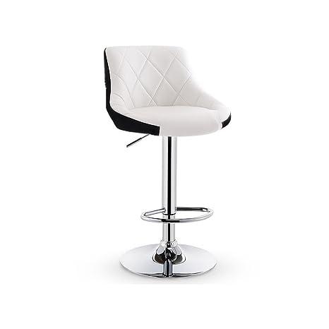 Fabulous Amazon Com White Swivel Bar Chair With Leatherette Exterior Frankydiablos Diy Chair Ideas Frankydiabloscom