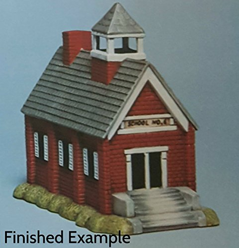 Old Fashioned School House unpainted ceramic bisque ready to be painted Christmas Village (Ceramics Paint Village To Christmas)