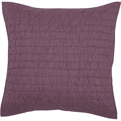 Bella Taylor Home VHC Brands Rochelle Quilted Euro Sham 26x26 (Amethyst)