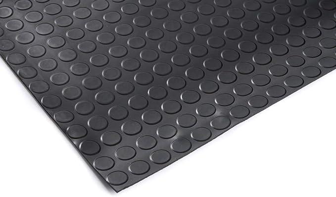 Gummimatte Gummil/äufer Schutzmatte Anti Rutsch Bodenbelag 100cm Breite 3mm Gummiboden 100 x 250cm, Tr/änenblech