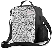 P PIPIGOU Large Capacity Lunch Boxes Cute_Lankybox Insulated Lunch Bags for Girls Boys Reusable Teens Handbag