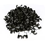 100 pieces per bag FgfAk RG6 Cable Clip Black