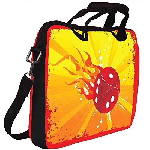 Snoogg Abstrakt Grunge Frame Of Vector Dice Gedruckt Notebook-Tasche mit Schultergurt 13 bis 13,6 Zoll