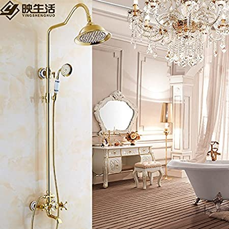 Winson Gold Faucets Antique Showers Kit Continental All Copper ...