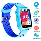 Kids Smart Watch Phone, SZBXD 1.44' GPS Tracker Smartwatch Touch Camera Games Flashlight SOS Alarm Clock Sports Wrist Watch Christmas Birthday Gifts for Girls Boys Children (S6-Blue)