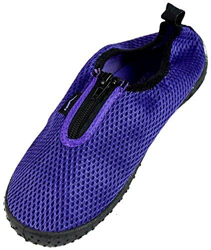 Slr Marchi Womens Asciugatura Rapida Acqua Calza Scarpe Da Acqua Con Cerniera Zapatos De Agua Viola