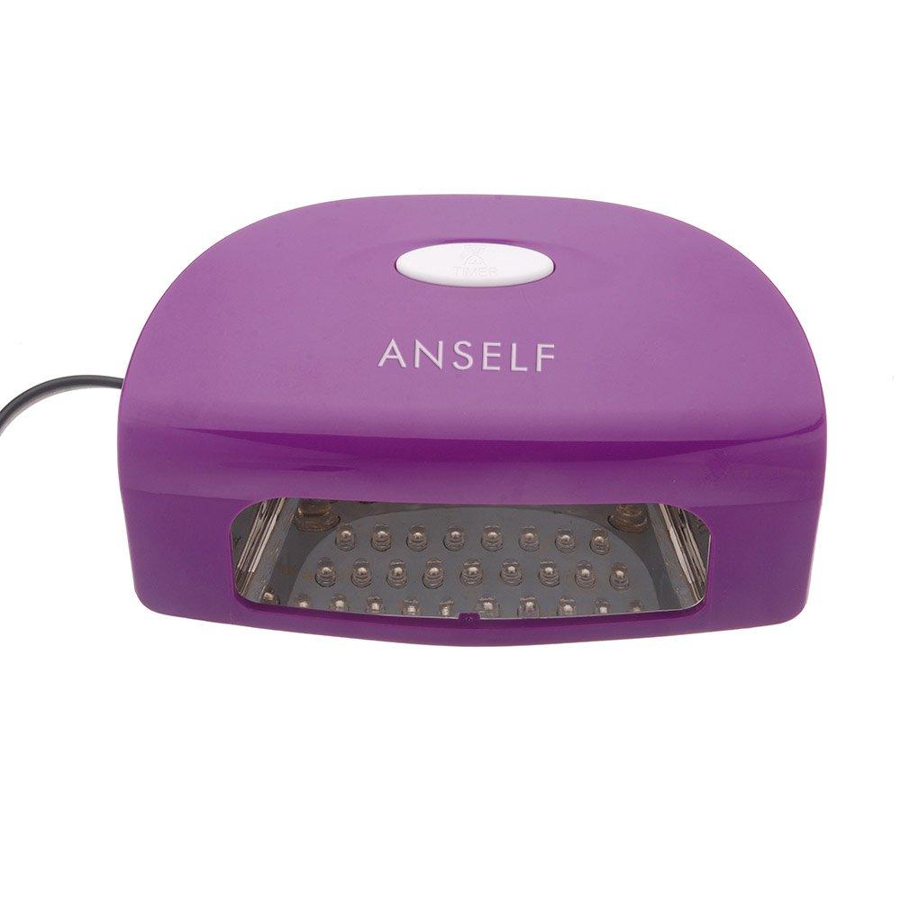 Anself V W Led Secador de esmaltes supermanente para uñas lámpara automático
