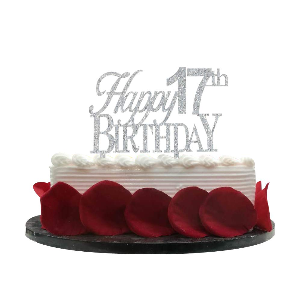 Incredible Happy 17Th Birthday Cake Topper 17 Cake Topper 17Th Birthday Funny Birthday Cards Online Fluifree Goldxyz