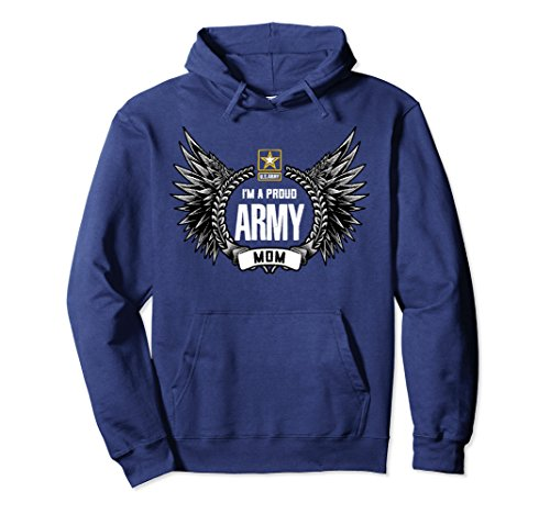 Unisex Proud US Army Mom Military Hoodie 2XL Navy (Us Navy Mom Sweatshirt)