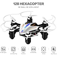 SBEGO 128 Mini 2.4G 4CH 6Axis Gyro Headless Mode Remote Control RC Quadcopter RTF One-key Return (White)