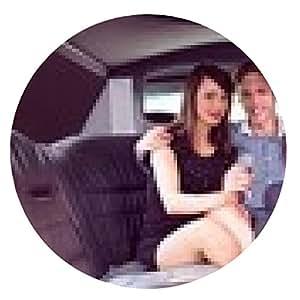 alfombrilla de ratón muchachas bonitas con hombre de las señoras en la limusina - ronda - 20cm