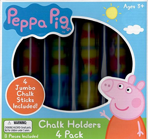 - Peppa Pig Chalk Holders - 4 Pacck