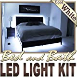 Biltek 6' ft Cool White Bed Night Light Closet TV Remote Controlled LED Strip Lighting SMD3528 Wall Plug - Headboard Closet Make Up Counter Mirror Light Strip Lamp 3528 SMD Flexible DIY 110V-220V