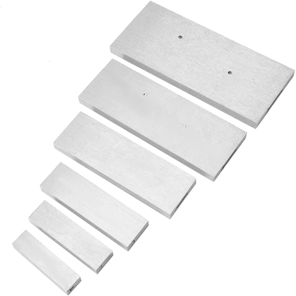 Block Parallel Parallel Pad-6 Pcs Steel Adjustable Parallel Block Set 3//8~2-1//4in Adjustment Range for Accurate Measurement
