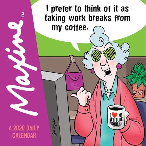 2020 Maxine 365 PAGE-A-DAY DAILY Desk CALENDAR