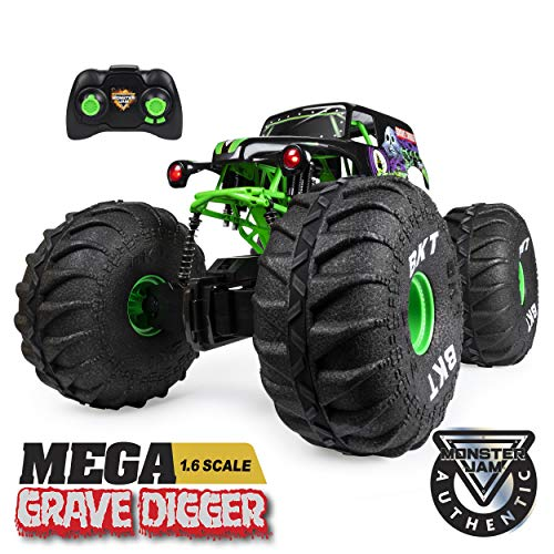 Monster Jam, Official Mega Grave Digger All-Terrain Remote Control Monster Truck with Lights, 1: 6 Scale (Best Cheap Rc Truck)