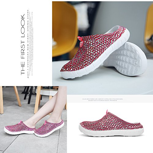Beach Shoes Dry Comfort Unisex Non Shoes Sandals Slip Clogs Slippers Water Garden Shower Quick Walking Red APSwqS1xU