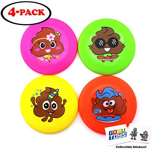 Mini Frisbee Set Poop Emoji Deisgns Small 5.5