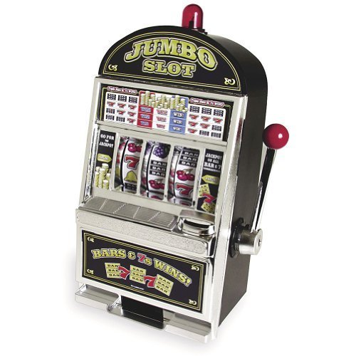 Jumbo Slot Machine Bank - Authentic Replication by Trademark Commerce (Jumbo Slot Bank)