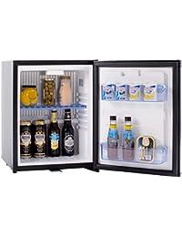 SMETA Compact Absorption Portable Refrigerator 110v/12v Mini Truck Fridge with Lock,Black