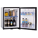 SMETA Compact Absorption Portable Refrigerator 110v/12v Mini Truck Fridge with Lock,Black