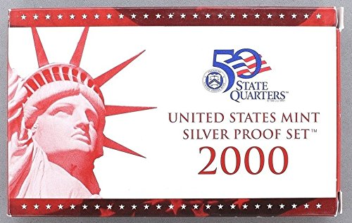 2000 S U.S. Mint 10-coin Silver Proof Set - OGP box & COA (2000 Proof Set)