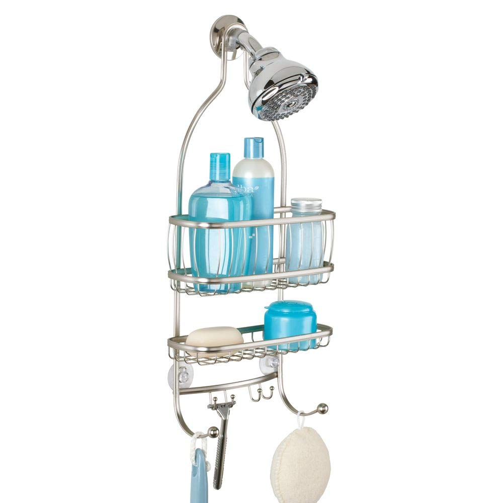 InterDesign York Lyra - Bathroom Shower Caddy Shelves - Satin - 10 x 4 x 22 inches