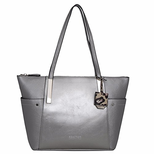 Kenneth Cole Reaction Jenna Tote (SILVER (Kenneth Cole Top Zip Tote)