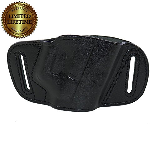 Quick Slide Holster Black Leather OWB For Glock 17 19 22 23 26 27