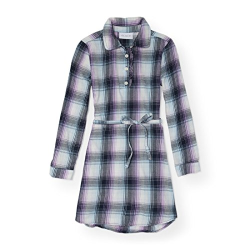 The Children's Place Big Girls' Long Sleeve Casual Dresses, Tidal 86279, XL (14)