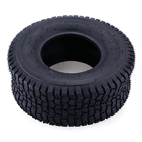 13x5.00-6, 13X5-6, 145/70-6 Tire & Inner Tube Set for Razor Dirt Quad and Go Kart, Dirt Bike, ATV, Yard Tractors, Lawn Mower, Wagons, Hand Trucks, with Bent Metal Valve Stem by LotFancy, 2 Packs