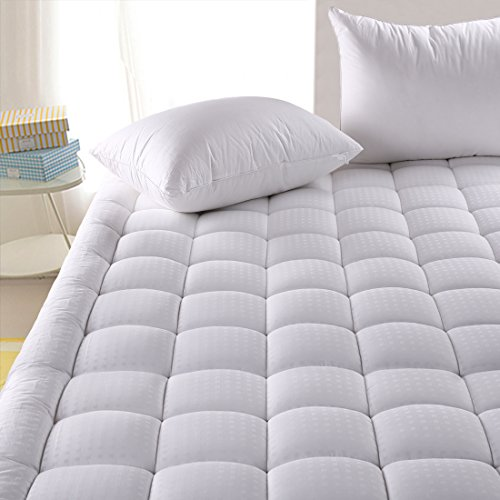 Hypoallergenic Quilted Mattress Pad Cover with 300TC 100% Cotton