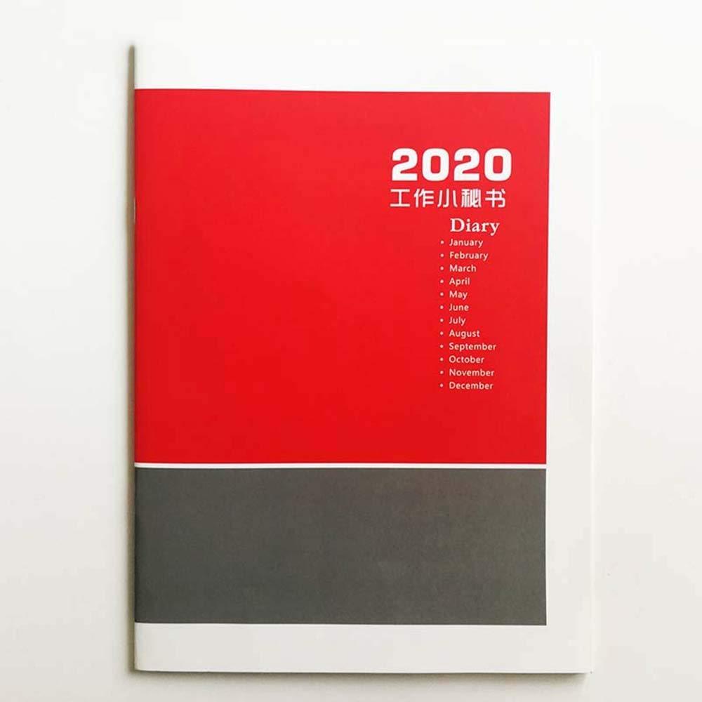 Colore : A ZSLLO Agenda 2020 Pianificatore mensile A4 Size Ufficio 2020 Calendario Tua segretaria Ufficio Cinese e English Version Stationery Office